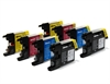 Brother Compatible Ink Cartridges - LC1240 / LC1220 CMYK - 8 item Multipack