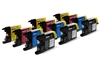 Brother Compatible Ink Cartridges - LC1240 / LC1220 CMYK - 12 item Multipack