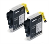 2 Brother Compatible LC985 / LC39 Black Ink Cartridges