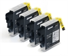Brother Compatible LC985 / LC39 Black Ink Cartridges - 4 Item Multipack