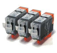 3-Pk Canon Compatible Black Ink Cartridges - BCI-3BK