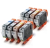 Canon Compatible Ink Cartridges - 8 Item Multipack - CLI8CMYKx2