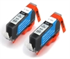 Canon Compatible Black Ink Cartridges - 2 x CLI-521Bk fully chipped and ready to use