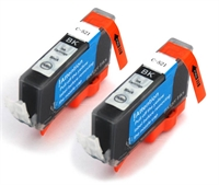 PGI520 CLI521 - Canon Compatible Black Ink Cartridges - 2 x CLI-521Bk fully chipped and ready to use