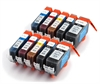 Canon Compatible Ink Cartridges - 10 Item Multipack - 8 x CLI-521 / 2 x PGI-520 fully chipped