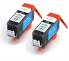 Canon Compatible Black Ink Cartridges - 2x PGI-520Bk fully chipped and ready to use