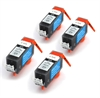 Canon Compatible Black Ink Cartridges - 4 x PGI-520Bk fully chipped and ready to use