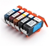 Canon Compatible Ink Cartridges - 5 Item Multipack - 4 x CLI-521 / 1 x PGI-520 fully chipped