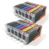 Canon Compatible Ink Cartridges 12 Item Multipack incl. Grey PGI570 CLI-571