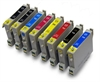 T0540-T0549 Epson Compatible Printer Ink Cartridges - 8 item Multipack
