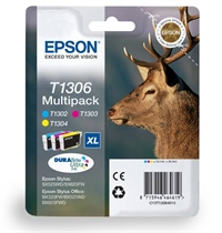 T1301 T1302 T1303 T1304 - Epson Original Multipack Ink Cartridges Stag Series T1306