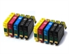 T1816 x2 Sets PLUS 2 extra Black Compatible Ink Cartridges Daisy Series 18XL - 10 Item Multipack