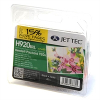 HP Officejet 7000 - H920 Black JetTec Remanufactured High Capacity Printer Ink Cartridge - HP920XL