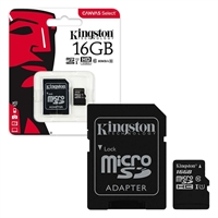 Kingston 16 GB Micro SDHC Class 10 UHS 1 High Speed Memory Card