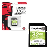Kingston 32 GB SDHC Class 10 UHS 1 High Speed Memory Card