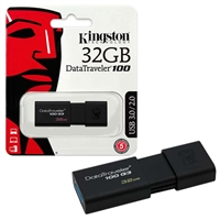 Kingston 32GB USB Flash Drive - Data Traveler USB 3.1 / 3.0 / 2.0