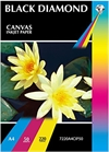 A4 Black Diamond Canvas Inkjet Paper - Double Sided x20 Sheets - 220gsm