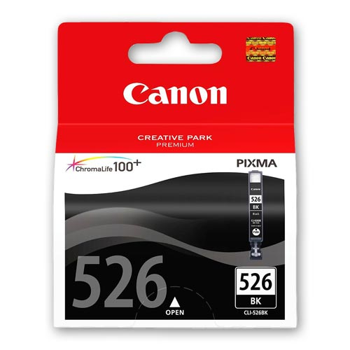 PGI525 CLI526 - Canon 526 Original Black Ink Cartridge - CLI526BK