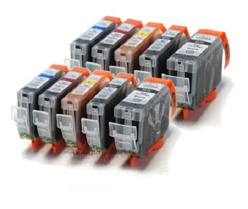 Canon 525 / 526 - 10 Item Multipack Canon Compatible Printer Ink Cartridges - PGI-525 / CLI-526 CMYK