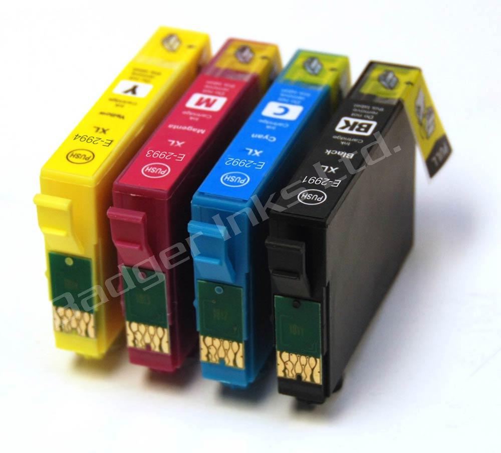 t29 printer ink cartridges t2996 epson 29xl full set of compatible ink cartridges strawberry. Black Bedroom Furniture Sets. Home Design Ideas
