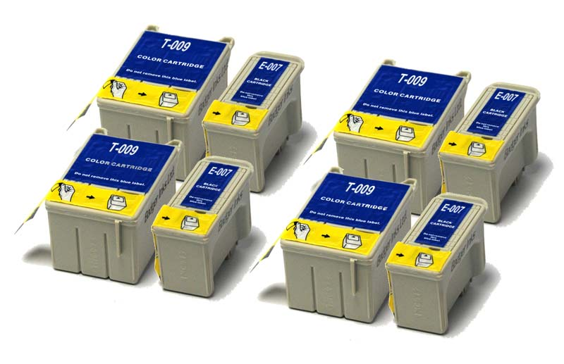 Epson Compatible Ink Cartridges - 8 item Multipack T007 / T009