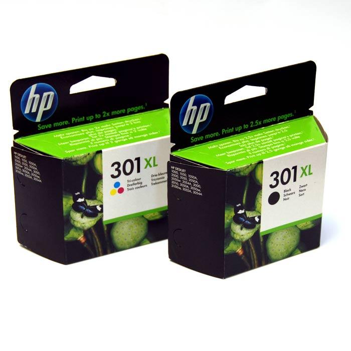HP 301XL Tri-Colour & Black Original Printer Ink Cartridge - HP301XL