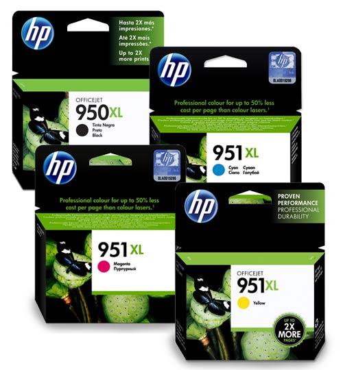 HP 950XL / HP 951XL Original High Capacity Ink Cartridges - 4 item  Multipack - HP950XL / HP951XL